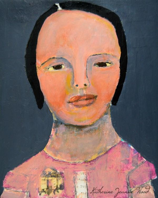 """""""She Looked Pretty in Pink"""" original fine art by Katie Jeanne Wood"""