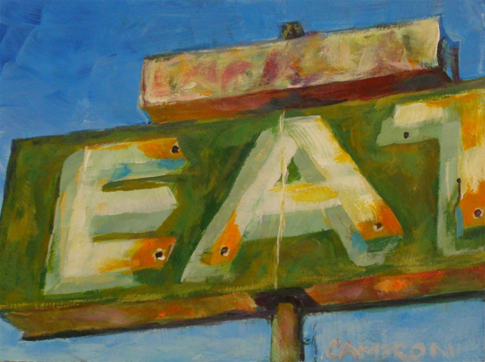 """EAT"" original fine art by Brian Cameron"