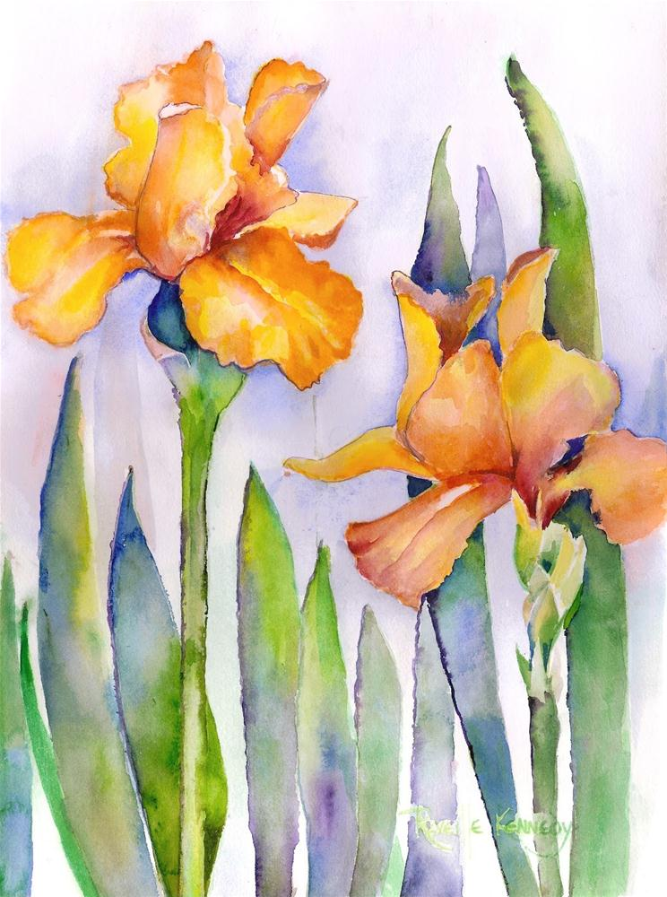 """Delirious Iris"" original fine art by Reveille Kennedy"