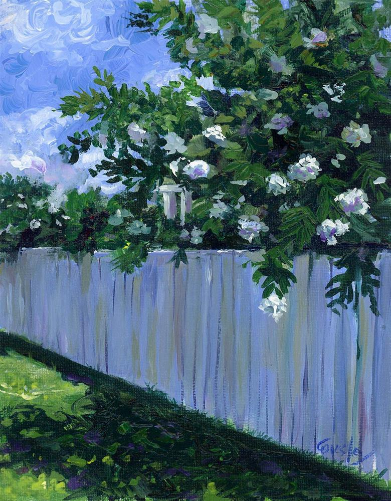 """Summer Shade"" original fine art by Chris Ousley"
