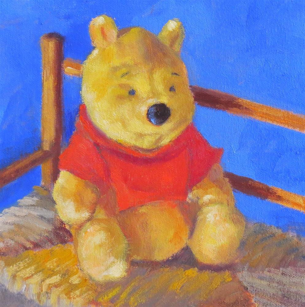 """Winnie The Pooh"" original fine art by Pam Holnback"