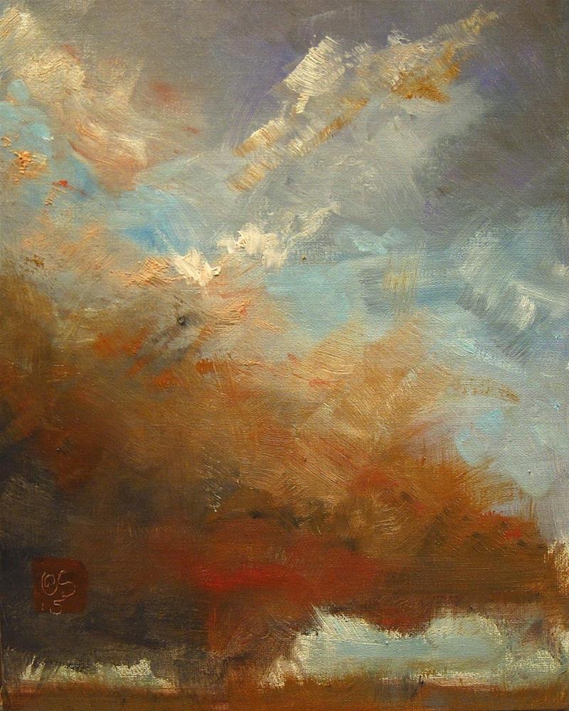 """""""A Rilke Sky"""" original fine art by Aurelio Saiz"""