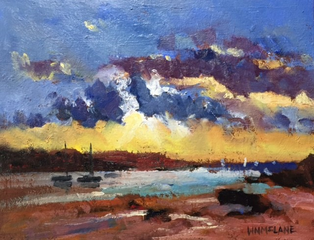 """Summer Sunset"" original fine art by William  McLane"