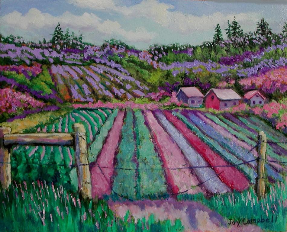 A Color-Filled Scene original fine art by Joy Campbell
