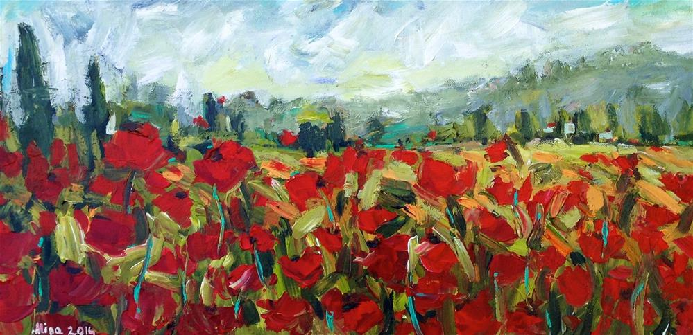 """Poppies"" original fine art by Alina Vidulescu"