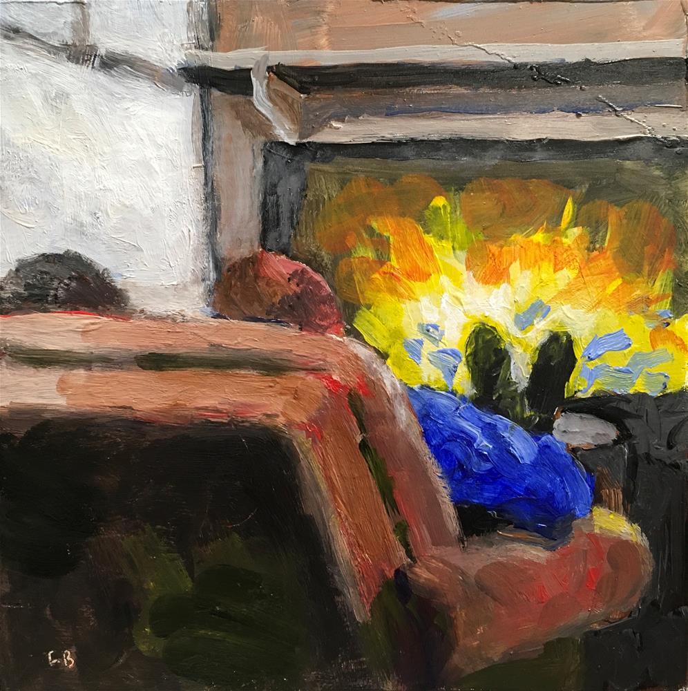 """""""167 Roaring Fire"""" original fine art by Fred Bell"""