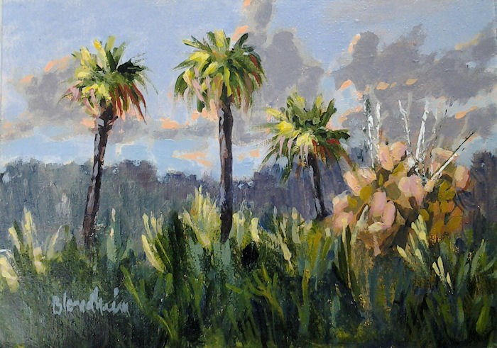 """Canaveral Palms"" original fine art by Linda Blondheim"