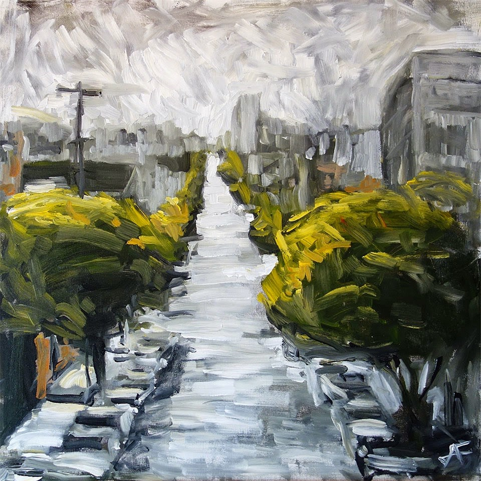 """West On Grove III"" original fine art by J. Farnsworth"