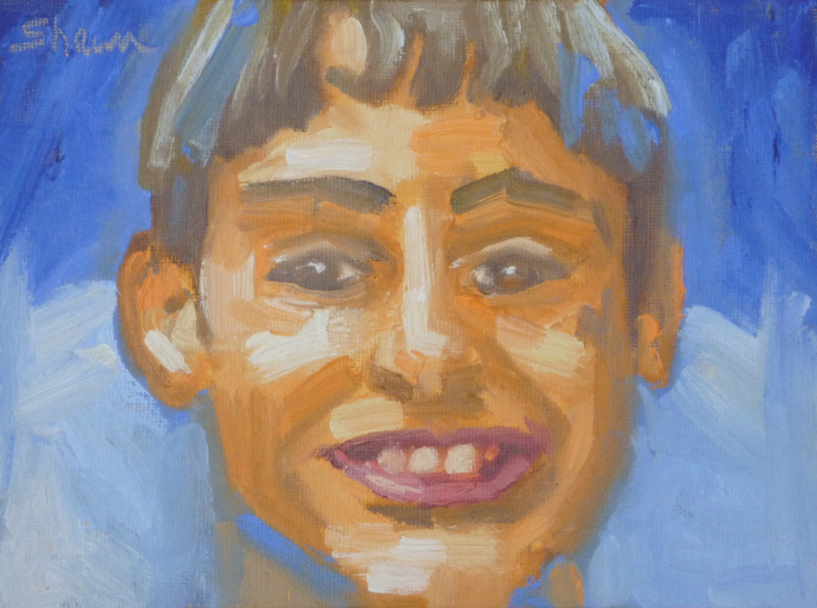 """Smilin' Ben"" original fine art by Shawn Deitch"