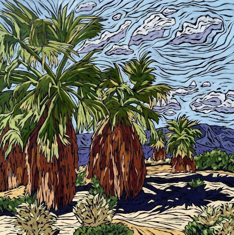 """""""Coachella"""" original fine art by Monique Straub"""