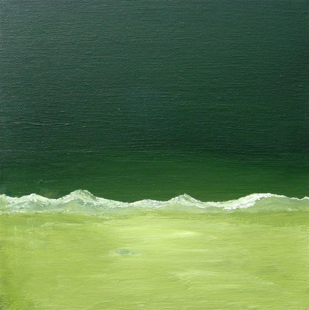 """All Green  Reserved for MM"" original fine art by Alina Frent"