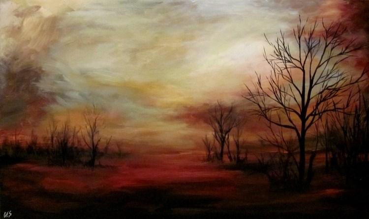 """Beyond the Trees"" original fine art by ~ces~ Christine E. S. Code"