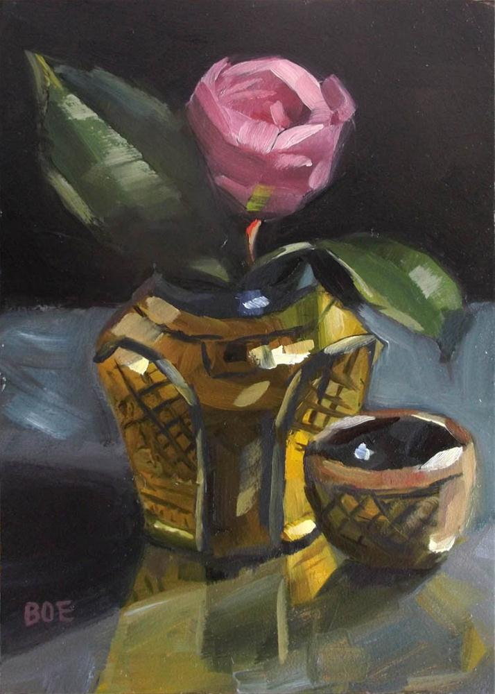 """Camellia for Cleopatra"" original fine art by Karen Boe"