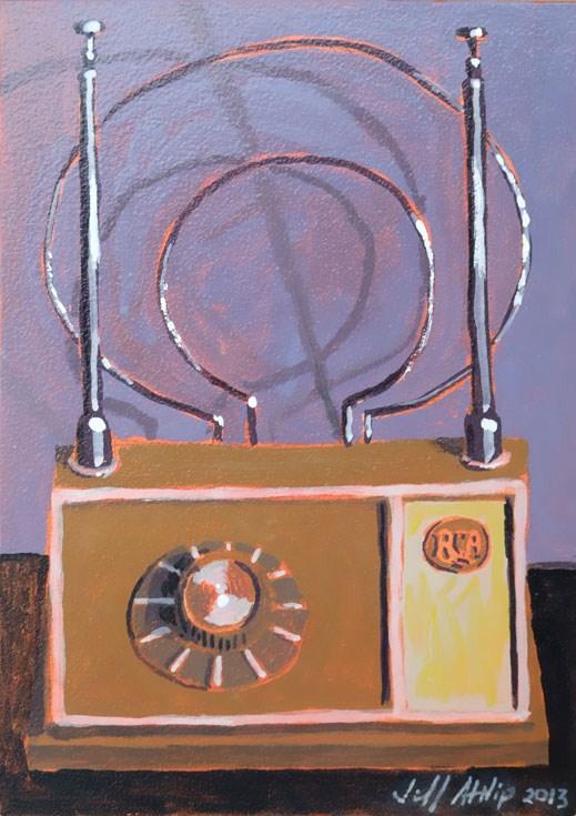 """Old Rabbit Ears"" original fine art by Jeff Atnip"