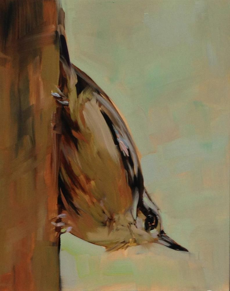 """Nuthatch Yoga Pose"" original fine art by Patti McNutt"