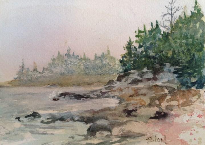 """""""Inlet Bay"""" original fine art by Sue Dion"""