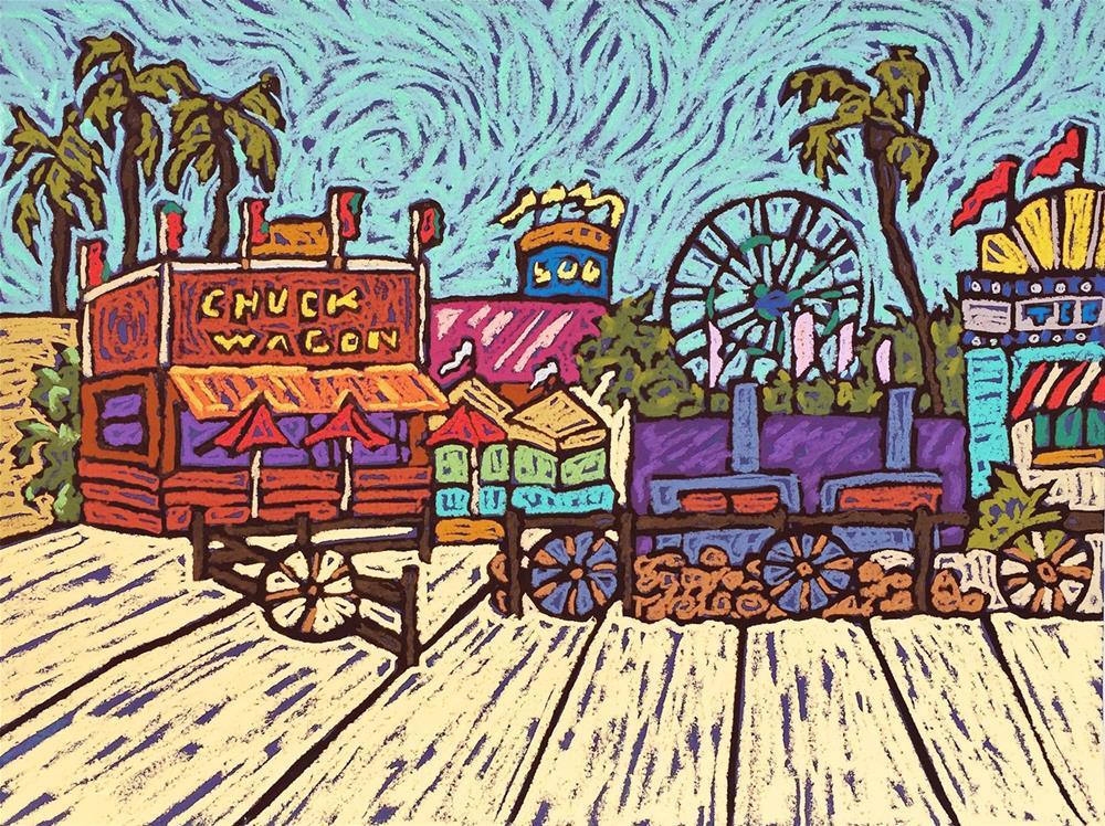"""Chuck Wagon"" original fine art by Monique Straub"
