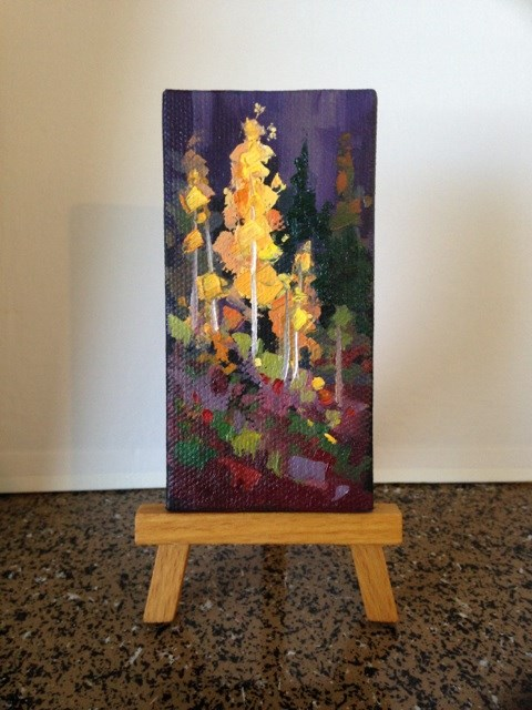 """Fall in the Canyon  7"" original fine art by Mary Jabens"