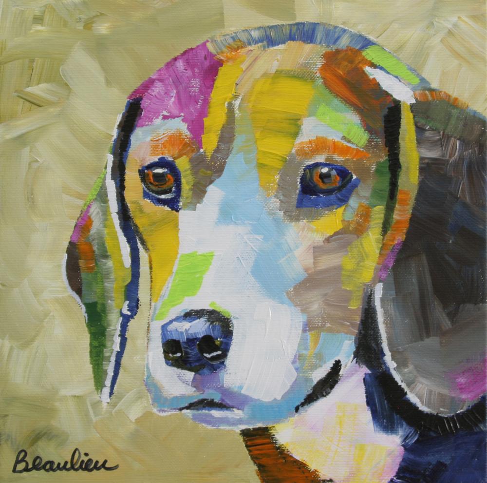 """Beagle"" original fine art by Andre Beaulieu"