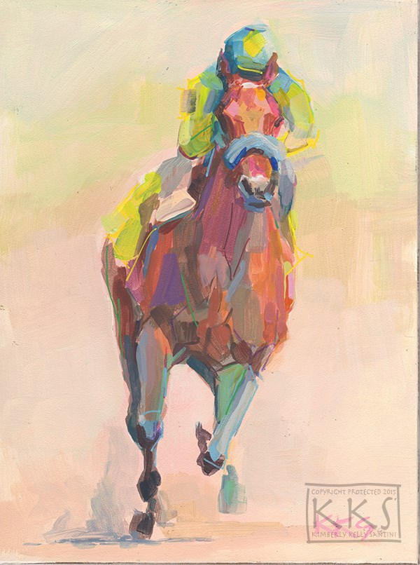 """Champion, Inspired by American Pharoah"" original fine art by Kimberly Santini"