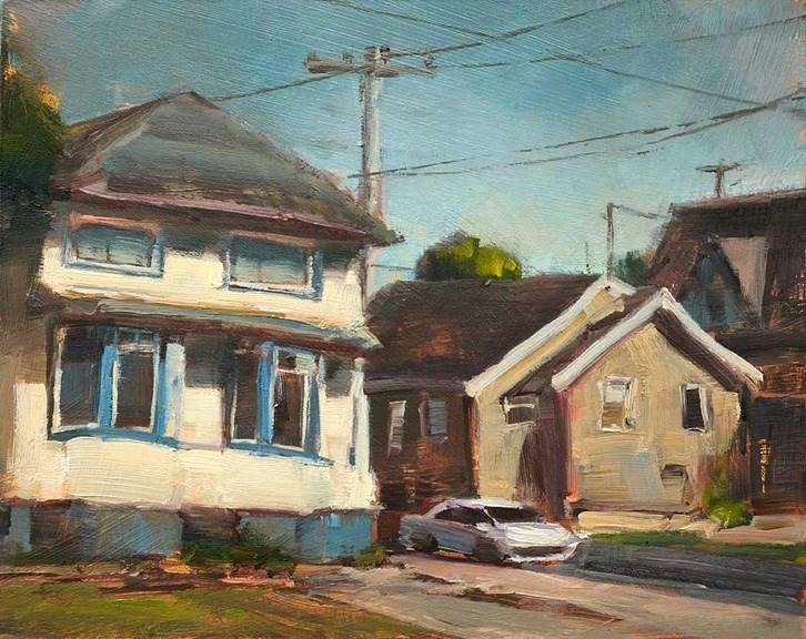 """Old Astoria"" original fine art by Charles Thomas"