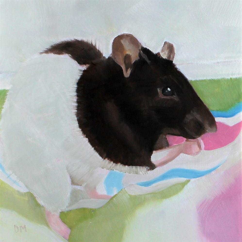 Rosie the rat original fine art by Darlene Mowatt