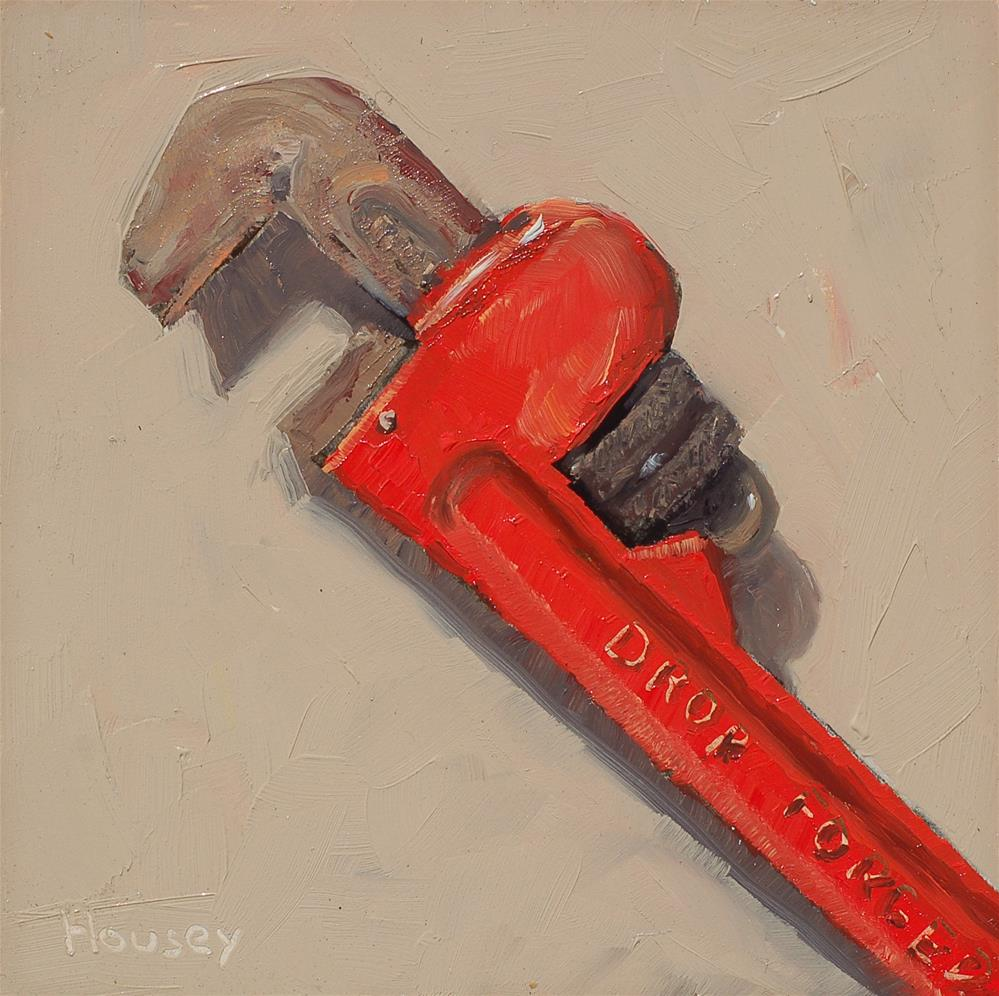 """Pipe Wrench"" original fine art by Bruce Housey"