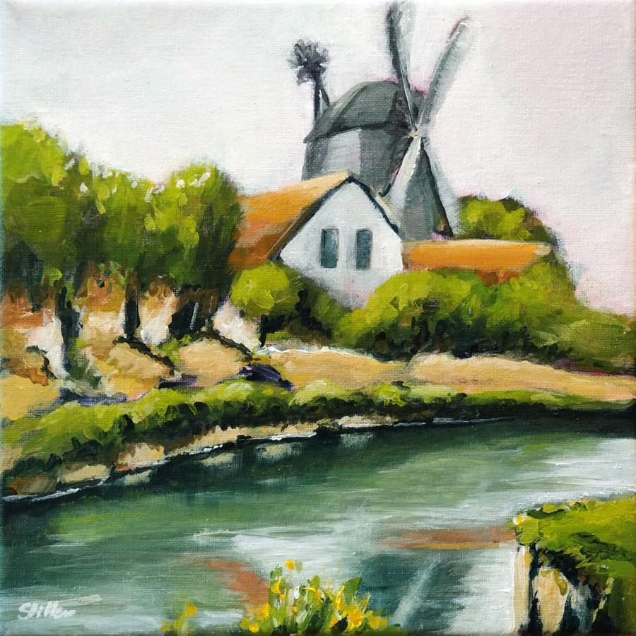 """""""1433 Beechwood Mill"""" original fine art by Dietmar Stiller"""