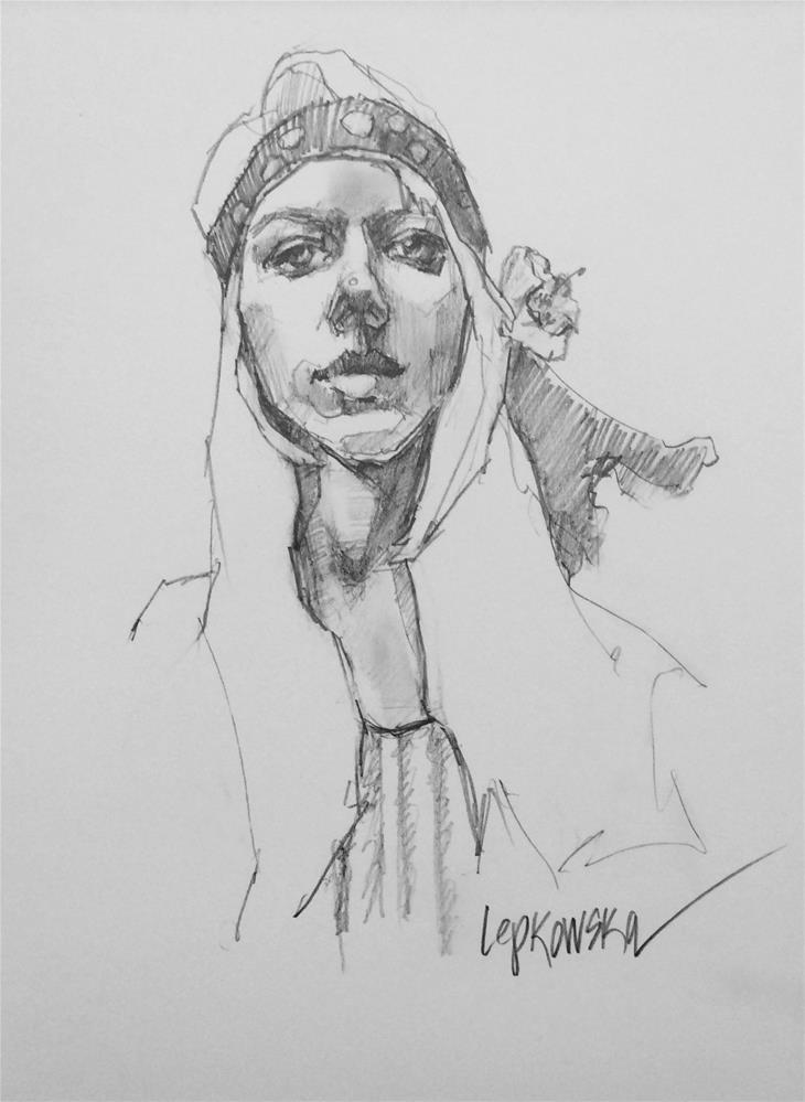 """Day 14 Challenge- The Hippie"" original fine art by Laurie Johnson Lepkowska"