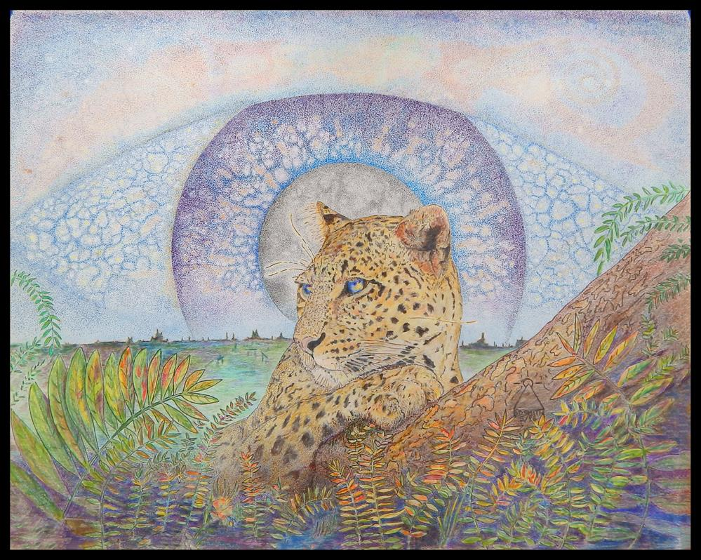 """The Leopard"" original fine art by Captain B Smith"
