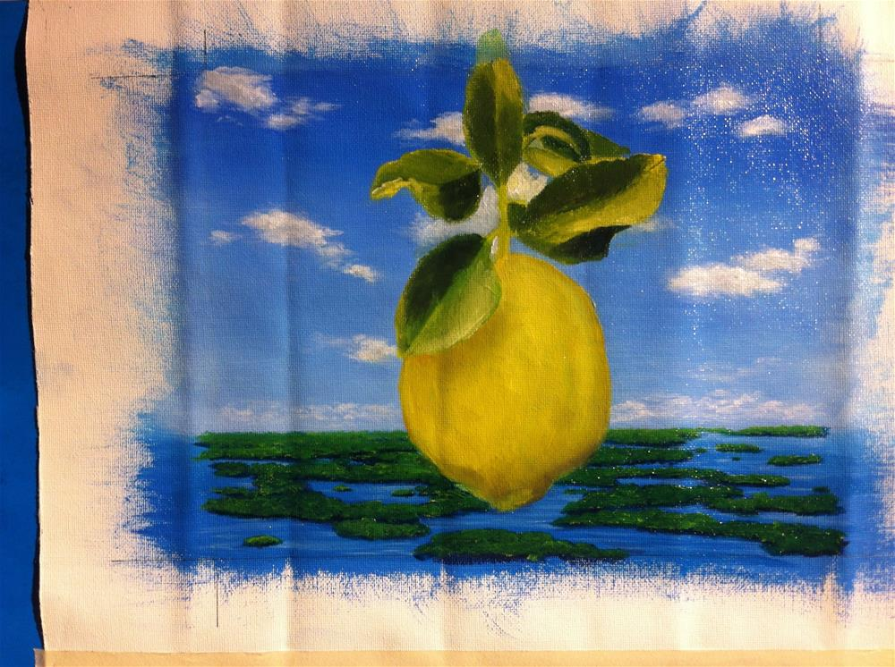 """""Under the blue sky"" 8 x 10 inches oil on canvas"" original fine art by Paulo Jimenez"