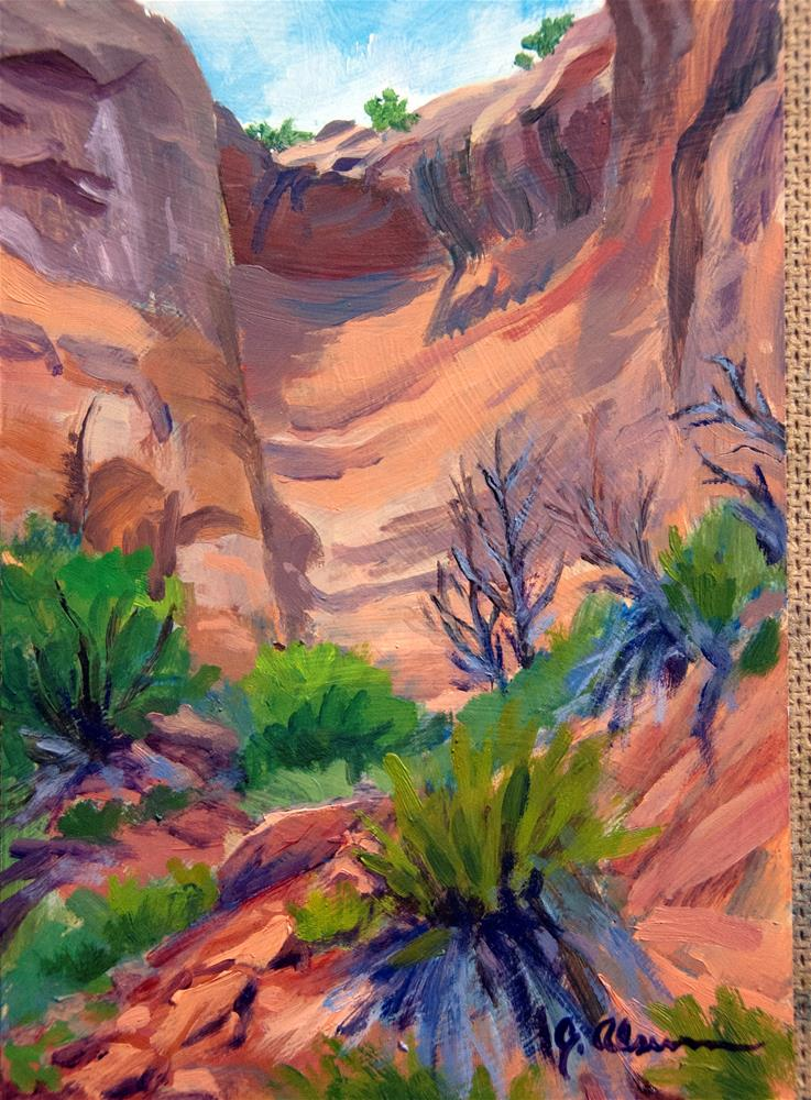 """Rattlesnake Canyon"" original fine art by Gary Alsum"