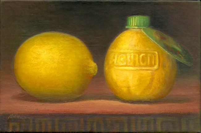 """Real Lemon"" original fine art by Carol L Adamec"