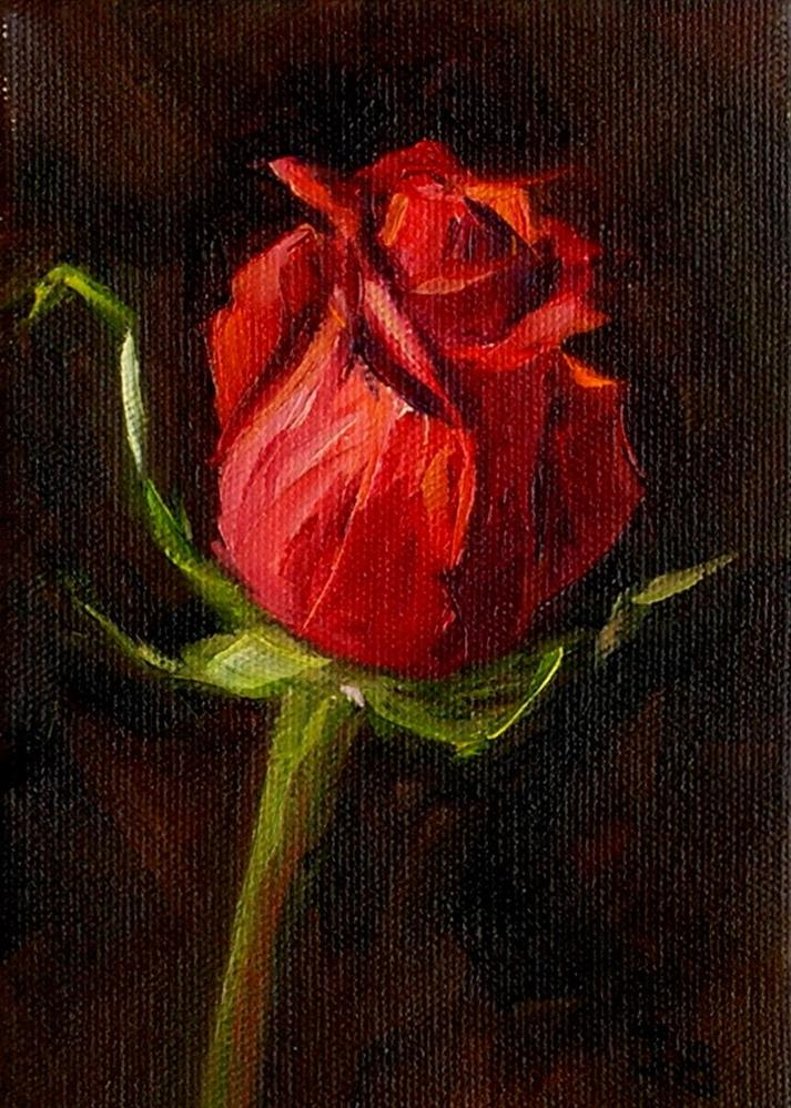 """Rose Study #2"" original fine art by Irina Beskina"