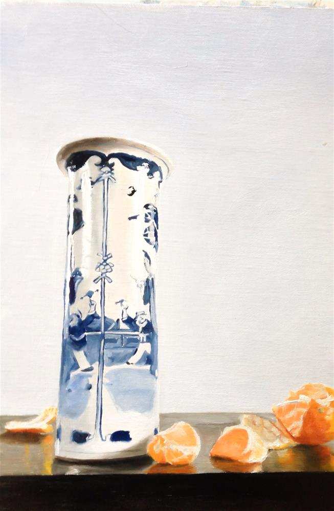 """Vase and Satsumas"" original fine art by James Coates"
