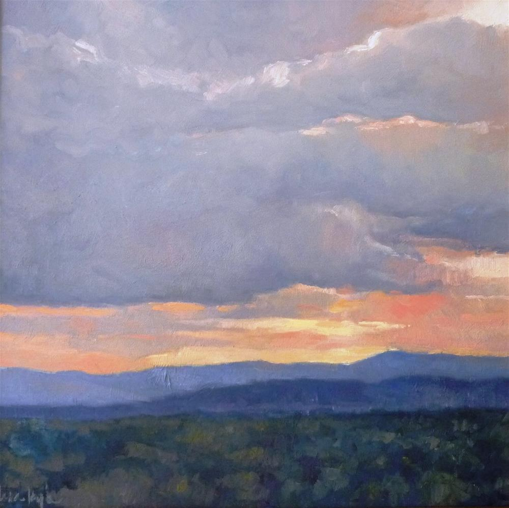 """Sunset in the Hills"" original fine art by Lisa Kyle"
