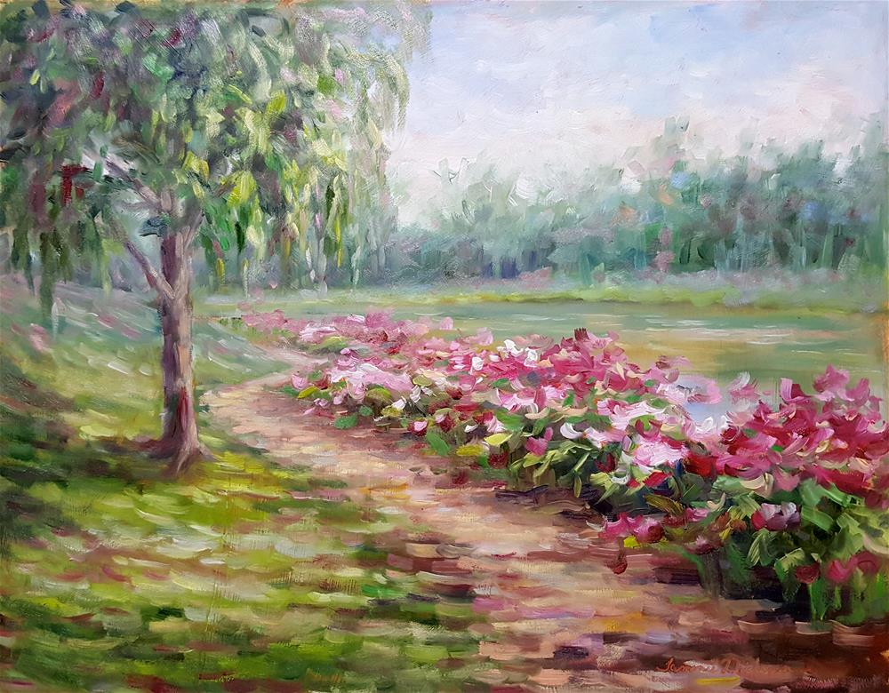 """Peony Path"" original fine art by Tammie Dickerson"