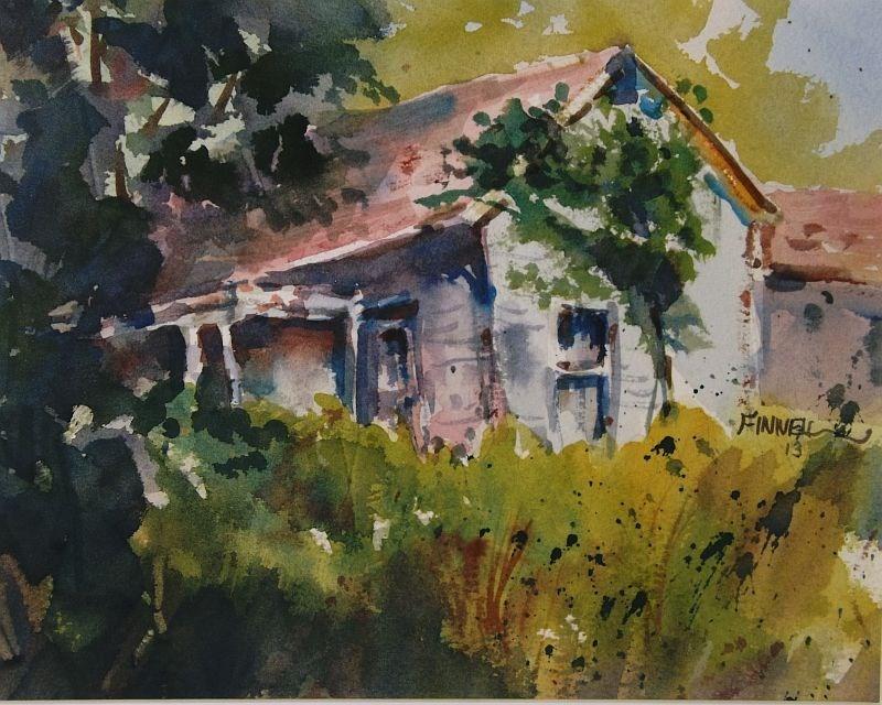 """The Old Farmhouse"" original fine art by David Finnell"