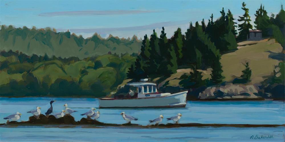 """Heart Island"" original fine art by Nat Dickinson"