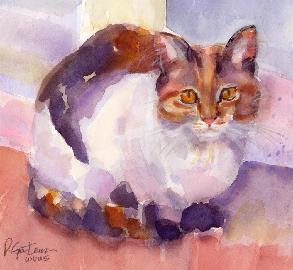 """""""Calico Companion"""" original fine art by Pamela Gatens"""