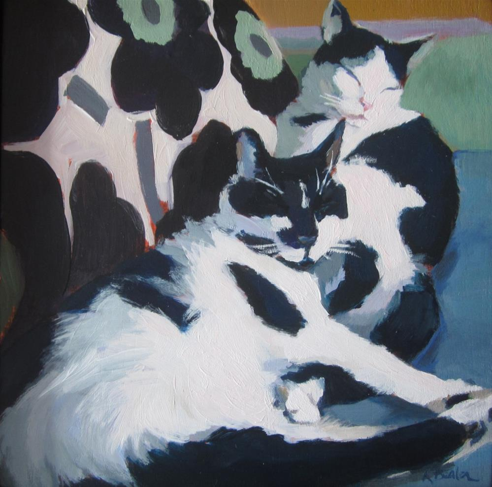 """Designer Cats"" original fine art by Kaethe Bealer"