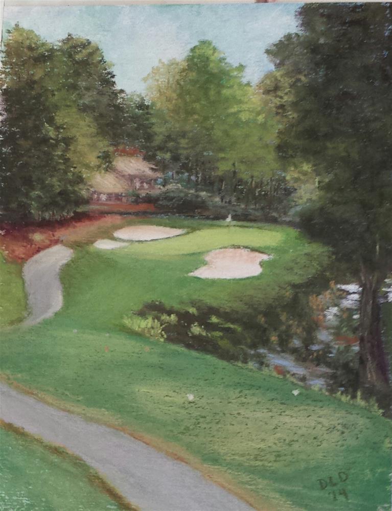 """""""Pastel Painting Original Art Golf Course 11x14"""" original fine art by Donna Donnon"""