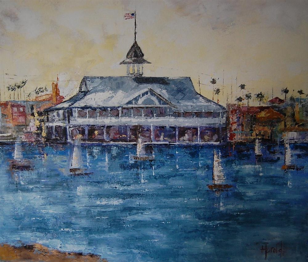 """Pavilion at Balboa"" original fine art by Deborah Harold"