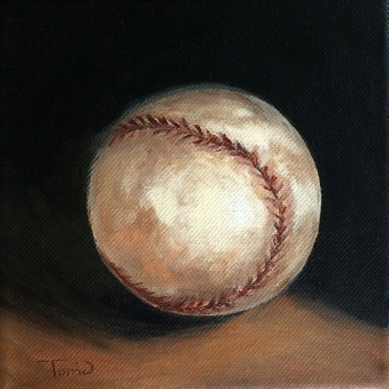 """Baseball II"" original fine art by Torrie Smiley"