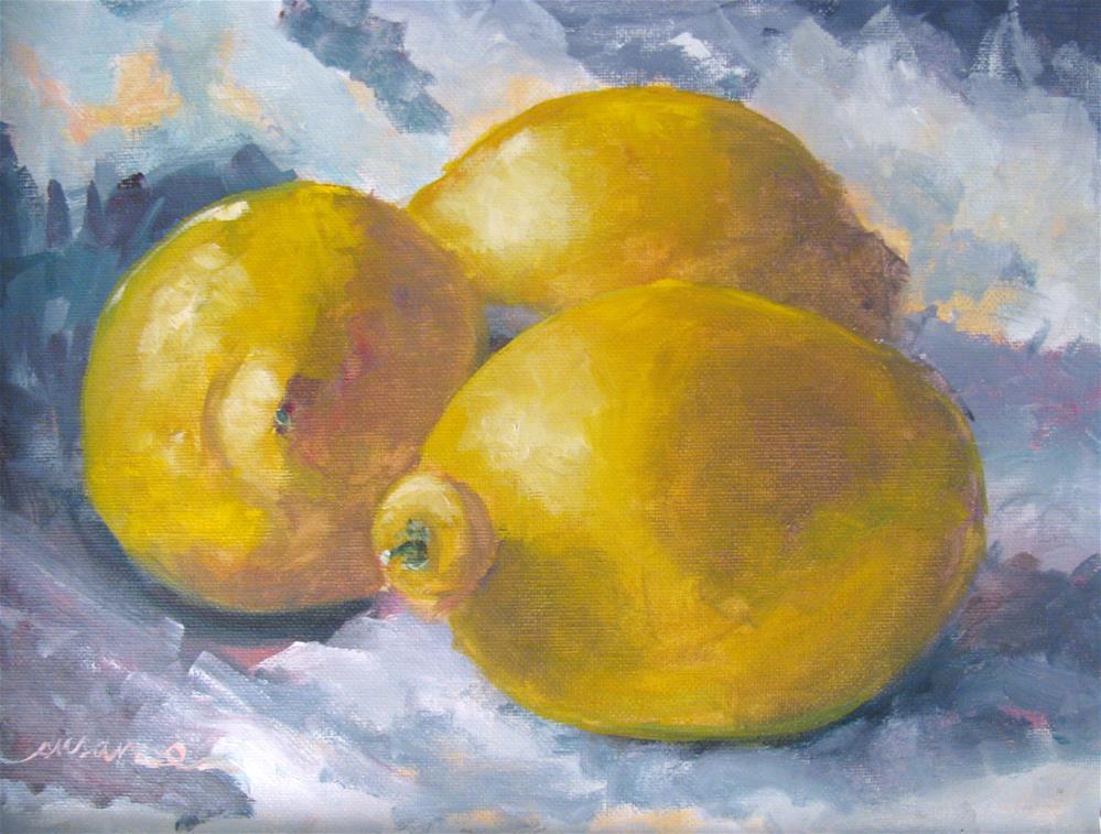 """""""Natchez Lemons"""" original fine art by Susan Elizabeth Jones"""