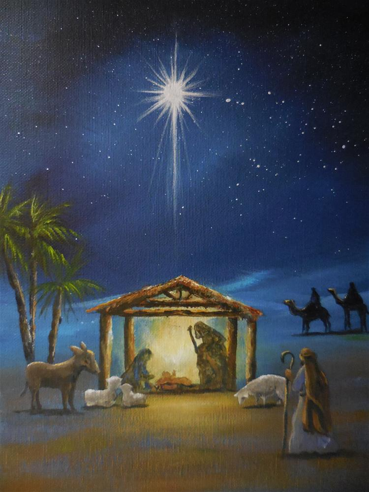 """Nativity"" original fine art by Terri Nicholson"