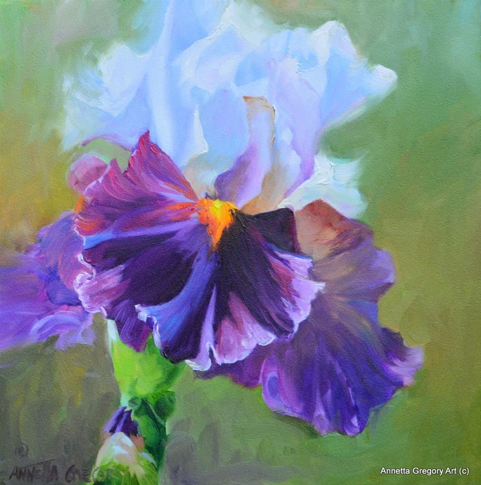 """Purple Delight"" original fine art by Annetta Gregory"