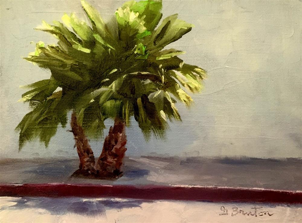 """Sidewalk Palm"" original fine art by Gary Bruton"