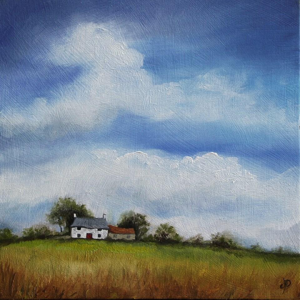 """Big Sky, Little Cottage"" original fine art by Jane Palmer"