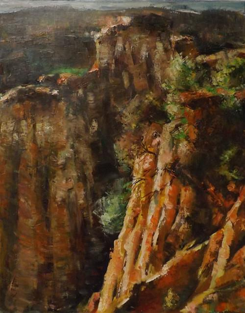 """Landscape,s1"" original fine art by Run-      Zhang Zane"